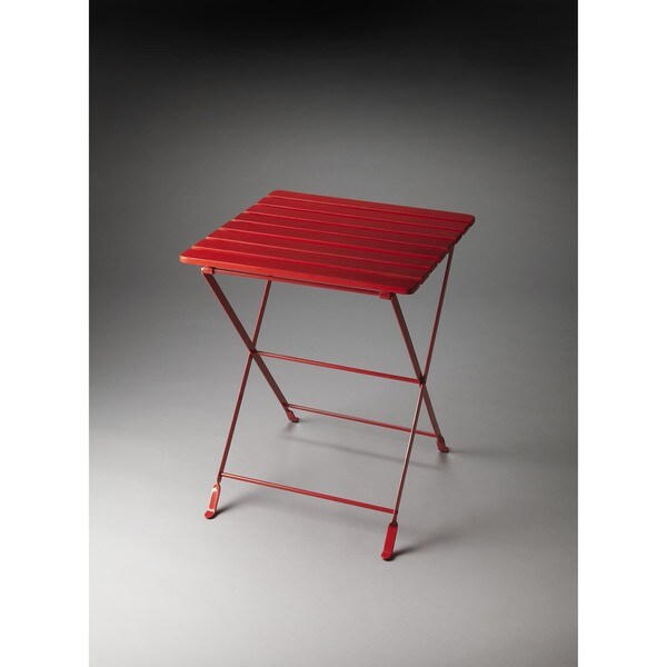 Butler Bailey Red Folding Side Table