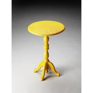 Butler Duxbury Yellow Reclaimed Wood Pedestal Table