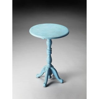 Butler Duxbury Blue Reclaimed Wood Pedestal Table