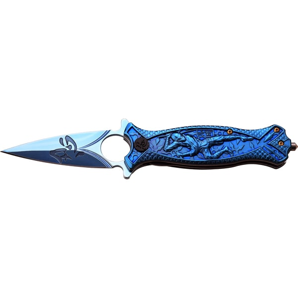 Master Cutlery Titanium-coated Assisted-opening Double-edge Ninja Knife