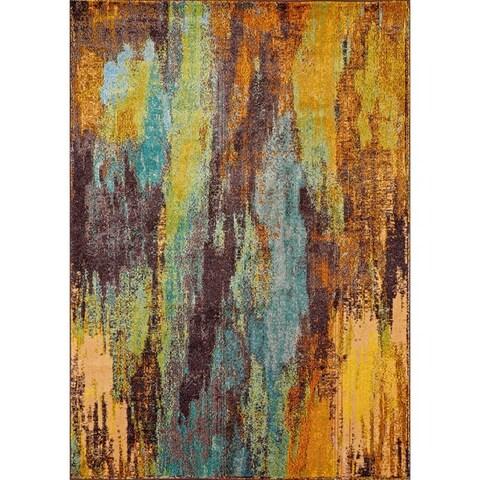 nuLOOM Multi Modern Abstract Painting Area Rug