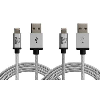 Rhino 3.3 ft. Sync/ Charge Apple MFI Certified Lightning Cable for Apple iPhone 5/ 5s/ 5c/ SE/ 6/ 6s/ 6+/ 6s+/ 7/ 7+ (Pack of 2)