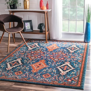 nuLOOM Traditional Ornamental Diamonds Multi Rug (3' x 5')