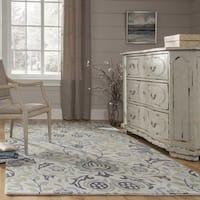 Momeni Newport Blue Hand Tufted Wool Runner Rug - 2'3 x 8'