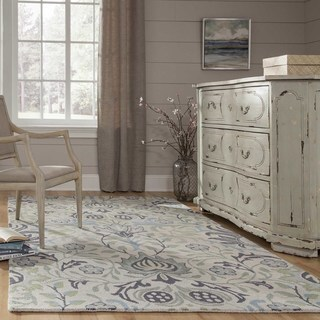 Momeni Newport Blue Hand-Tufted Wool Runner Rug (2'3 X 8')