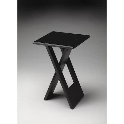 Handmade Hammond Black Folding Table (India)