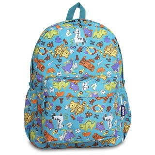 J World OZ Aniphabets Multicolor Polyester Campus Backpack