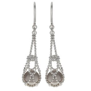 Pearls For You Sterling Silver South Sea Pearl Dangling Earrings