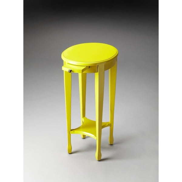 Handmade Butler Arielle Yellow Round End Table (China)