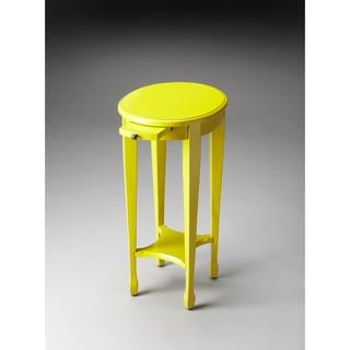Butler Arielle Yellow Round Accent Table