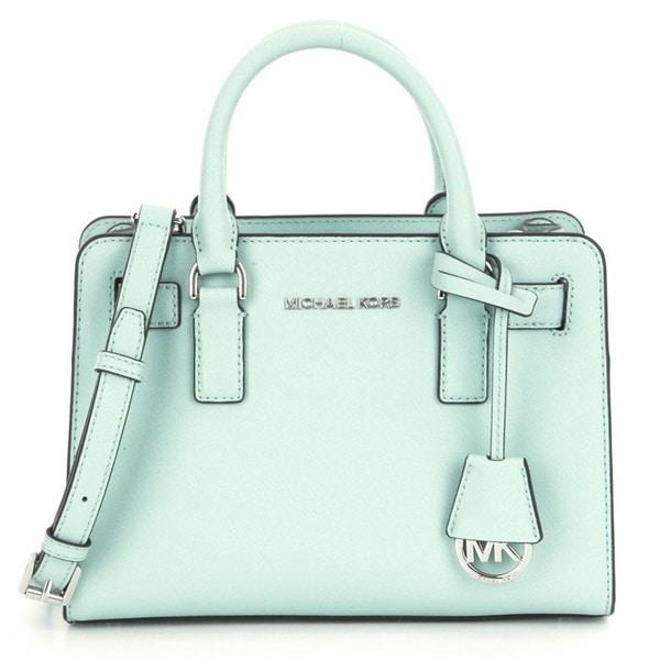 c5a0753a50241d Shop Michael Kors Dillon CeladonTop Zip East/West Leather Satchel ...
