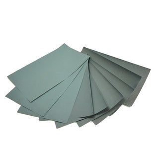 World Abrasive Grit P1500 Wet/ Dry Waterproof Coated Sheets (Set of 10)