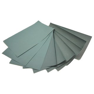 World Abrasive Grit P1000 Wet/ Dry Waterproof Coated Sheets (Set of 10)