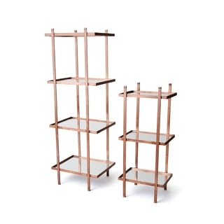 Copper Iron Bookshelves (Set of 2)