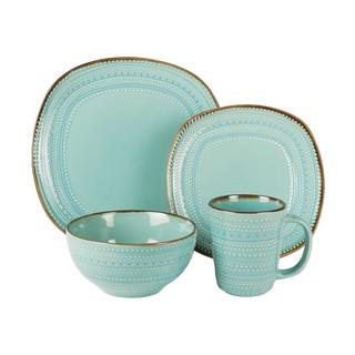 American Atelier Tallulah Blue Earthenware 16-piece Dinnerware Set  sc 1 st  Overstock.com & Formal Dinnerware For Less   Overstock.com
