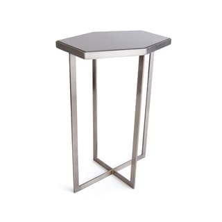 Hip Vintage Carnegie Brushed Marble/Metal Occasional Table