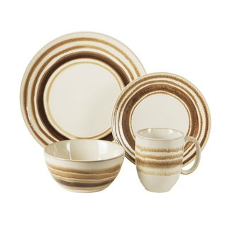 American Atelier Romy Brown Earthenware Dinnerware (Case of 16)