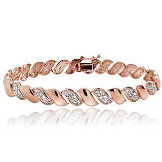 DB Designs Rose Goldtone 1/2ct TDW Diamond San Marco Bracelet