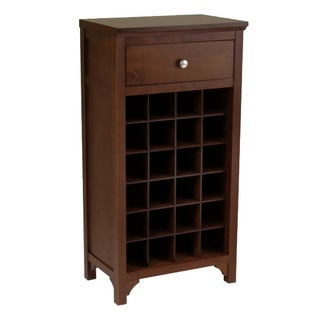 Winsome Antique Walnut Wooden Home Storage Wine Modular Cabinet