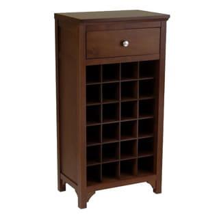 Winsome Antique Walnut Wooden Home Storage Wine Modular Cabinet