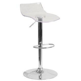 Transparent Acrylic Barstool (Option: Pink)