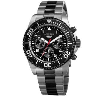 Akribos XXIV Men's Quartz Chronograph Two-Tone Stainless Steel Bracelet Watch