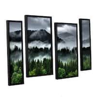 Ken Skehan's 'After an Alpine Summer Storm' 4-Piece Floater Framed Canvas Staggered Set