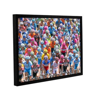Ken Skehan's 'La Tour de France Only 197KM to go' Gallery Wrapped Floater-framed Canvas
