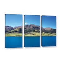 Ken Skehan's 'Lake Tahea' 3-Piece Gallery Wrapped Canvas Set - multi