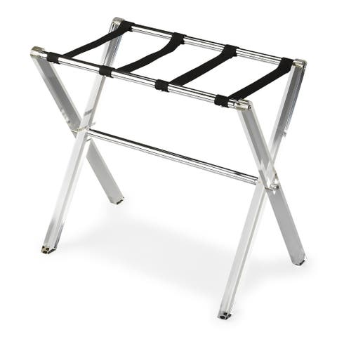Handmade Butler Crystal Clear Acrylic Luggage Rack