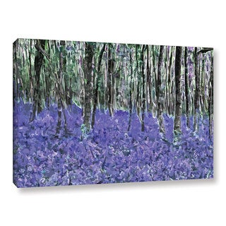 Ken Skehan's 'Natural Abstract Bluebell Woods' Gallery Wrapped Canvas