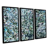 Ken Skehan's 'Natural Abstract Bush Foliage number 1' 3-Piece Floater Framed Canvas Set