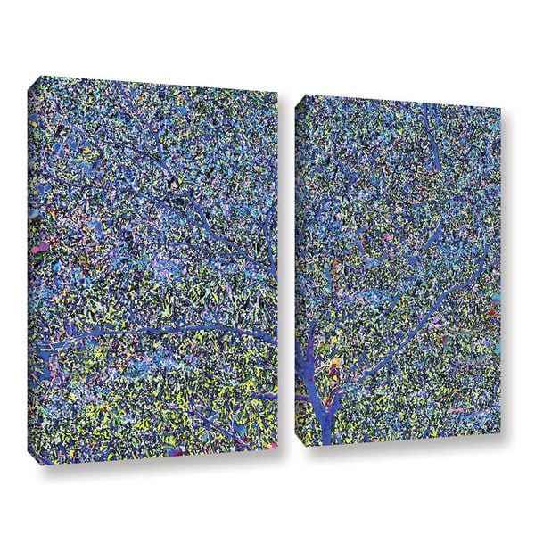 Ken Skehan's 'Natural Abstract Bush Foliage number 2' 2-Piece Gallery Wrapped Canvas Set