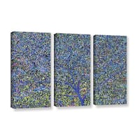 Ken Skehan's 'Natural Abstract Bush Foliage number 2' 3-Piece Gallery Wrapped Canvas Set - Multi