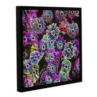 Ken Skehan's 'Natural Abstract Flowers number 2' Gallery Wrapped Floater-framed Canvas