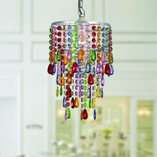 Eglantyne 1-light Acrylic/Metal Rainbow 35-inch Chandelier