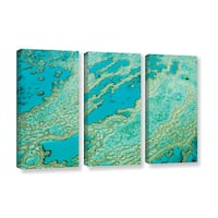 Ken Skehan's 'Natural Abstract Great Barrier Reef number 2' 3-Piece Gallery Wrapped Canvas Set - multi