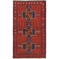 eCarpetGallery Hand-knotted Kazak Red Wool Rug (3'8 x 6'3)