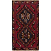 eCarpetGallery Bahor Multicolored Wool Hand-knotted Rug (3' 6 x 6' 1)