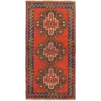 ecarpetgallery Hand-knotted Kazak Red Wool Rug (3'5 x 6'9)