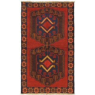 eCarpetGallery Hand-knotted Kazak Red Wool Rug (3'6 x 6'2)
