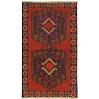 eCarpetGallery Hand-knotted Kazak Red Wool Rug (3'6 x 6'2) - 3'6 x 6'2