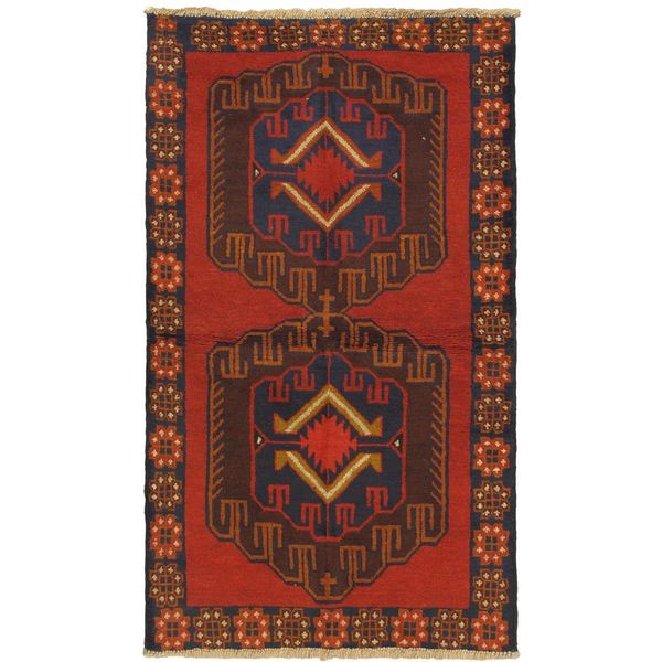 eCarpetGallery Hand-knotted Kazak Red Wool Rug (3'6 x 6'2)
