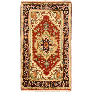 eCarpetGallery Hand-knotted Brown Wool Serapi Heritage Rug (3' x 5'2)