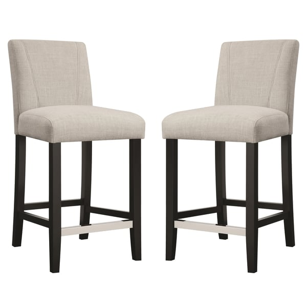Ramiro Fabric Upholstered Counter Height Stools Set Of 2