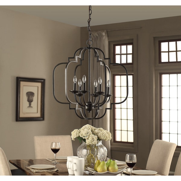 I Love Living Moroccan 6 Light Dark Bronze Chandelier