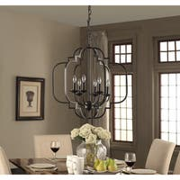 Moroccan 6-Light Dark Bronze Chandelier