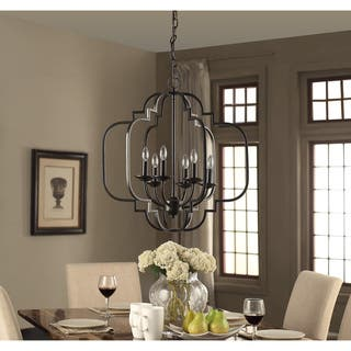 I Love Living Moroccan 6-Light Dark Bronze Chandelier