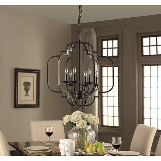 moroccan 6light dark bronze chandelier
