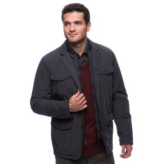 Tommy Hilfiger Men's Poly-twill 4-pocket Blazer with Zip-out Puffer Bib Medium Size in Navy (As Is Item)